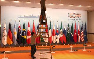 Kontrolle Sicherheitseinrichtung beim G20-Gipfel